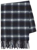 Topman Black, Navy And White Check Scarf