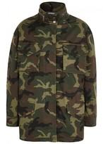 Alice + Olivia Russo Camouflage-print Twill Jacket