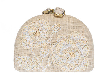 Rafe Ariella Chrysanthemum Half Moon Clutch Bag