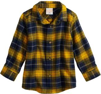 Baby Boy Jumping Beans Plaid Flannel Button-Up Shirt