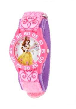 EWatchFactory Disney Belle Girls' Pink Plastic Time Teacher Watch