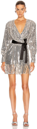 Rotate by Birger Christensen Samantha Dress in Silver | FWRD