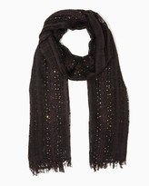 Charming charlie Open-weave sequin scarf