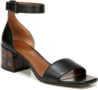 Franco Sarto Block-Heel Leather Sandals - Merryl