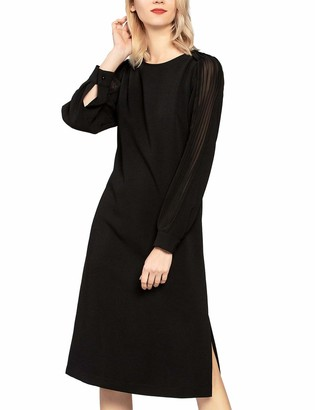 APART Fashion Women's Dress with Plissee Sleeves Party