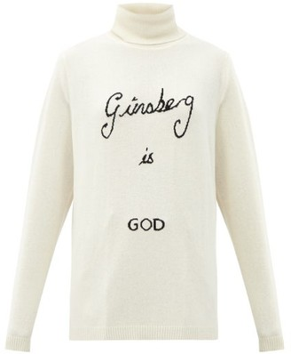 Bella Freud Ginsberg Is God Roll-neck Cashmere Sweater - Ivory