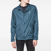 Paul Smith Men's Petrol Blue Lightweight PS Logo Coach Jacket
