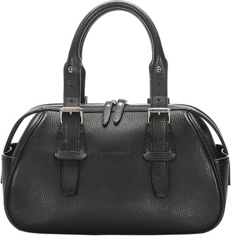 Burberry Black Leather Satchel Bag