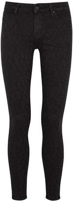 Articles of Society Sarah Black Leopard-print Skinny Jeans