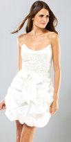 Mignon Bustled White Cocktail Dresses