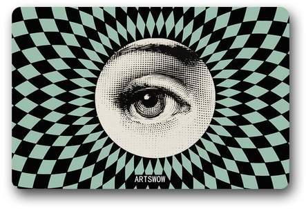 "Fornasetti Generic Plates Bubble Gum Doormat Door Welcome Mat Cover Rug Outdoor Indoor Floor Mats Non-Slip Machine Washable Decor Bathroom Mats 23.6""(L) X 15.9""(W)"