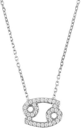 Latelita Zodiac Star Sign Pendant Necklace Silver Cancer