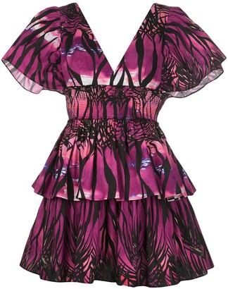 Fausto Puglisi Beach Print Mini Dress