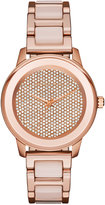 Michael Kors Women's Kinley Rose Gold-Tone Stainless Steel and Blush Acetate Bracelet Watch 38mm MK6432