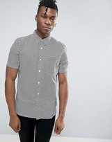 French Connection Short Sleeve Shirt in Regular Fit with All Over Print