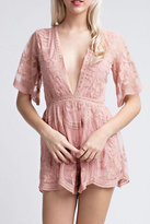 Honey Punch Embroidered Lace Romper