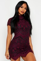 boohoo Boutique Eyelash Lace Bodycon Dress
