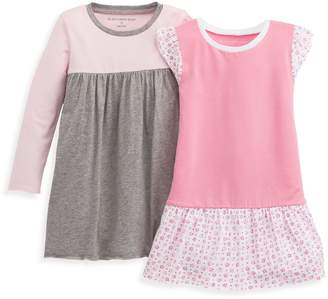 Burt's Bees Dotty Flowers Organic Toddler Girls Dress Set - 2-Pack