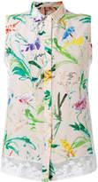 No.21 Fantasia print sleeveless shirt