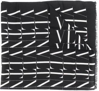 Valentino All-Over Logo Scarf