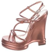 Dolce & Gabbana Metallic Wedge Sandals
