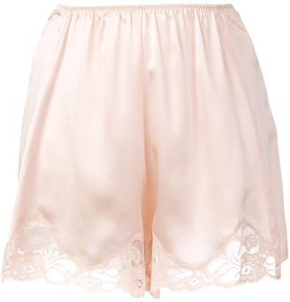 Stella McCartney Lace Trim Satin Shorts
