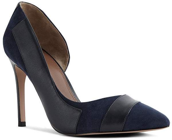 Reiss Women's Augusta Leather & Suede d'Orsay Pumps