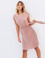 Felia Pleated Tee Dress