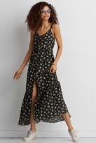 American Eagle Outfitters AE Ruffle Tie-Back Maxi Dress
