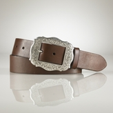 Leather Western Buckle Belt