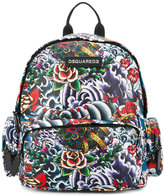 DSQUARED2 printed backpack - kids - Cotton/Polyester - One Size