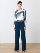 Somewhere Woman's wide-legged cotton / linen basketweave trousers, HAROUE
