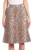 See by Chloe Leopard Printed Skirt