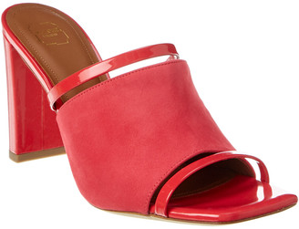 Malone Souliers Demi 85 Suede & Patent Sandal