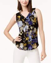INC International Concepts Petite Zip-Trim Sleeveless Mesh Top, Created for Macy's