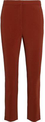 Rosetta Getty Cropped Twill Slim-leg Pants