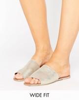 New Look Wide Fit Suede Flat Mule