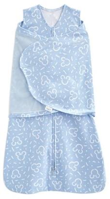 Halo SleepSack swaddle 100% cotton, Disney Baby confetti Mickey blue, newborn
