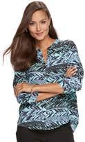 Dana Buchman Women's Woven Popover Top