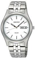 Seiko Mens Silvertone Functional Solar Watch