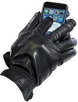 Isotoner Men's Touch Screen Leather Thermaflex Lined Gloves