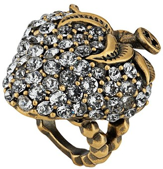 Gucci Strawberry ring with crystals