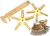 FindingKing 25Pc Brass Clock Keys Gauge Set Fits Wall Grandfather