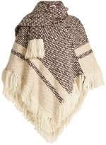 See by Chloe Fringed wool-blend poncho