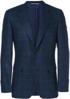 Canali classic check blazer - men - Cupro/Wool - 48