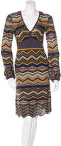M Missoni MultiColored Chervon Dress