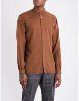 Camoshita Nehru regular-fit cotton-blend shirt