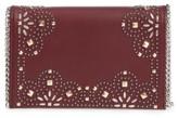 Chelsea28 Fleur Studded Faux Leather Convertible Clutch - Burgundy