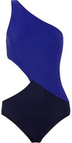 Araks Elmar Cutout Two-tone Swimsuit - Navy