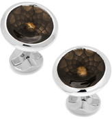 Cufflinks Inc. Geo Floral Black Concave Disc Cuff Links